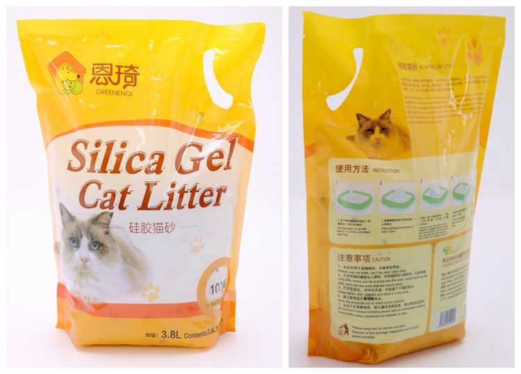 Dust Free Cat Litter for Odor Control Size 1-8mm 3% Green Added