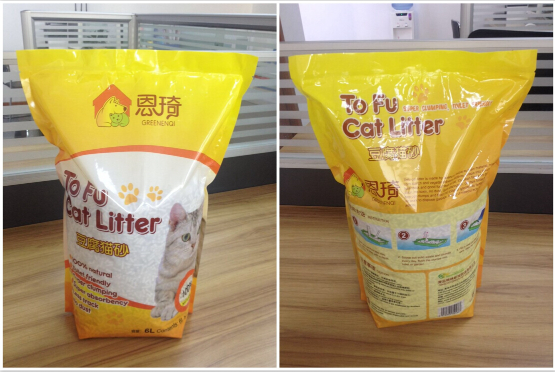 Eco-friendly Tofu cat litter easy clumping manufacturer in Korea