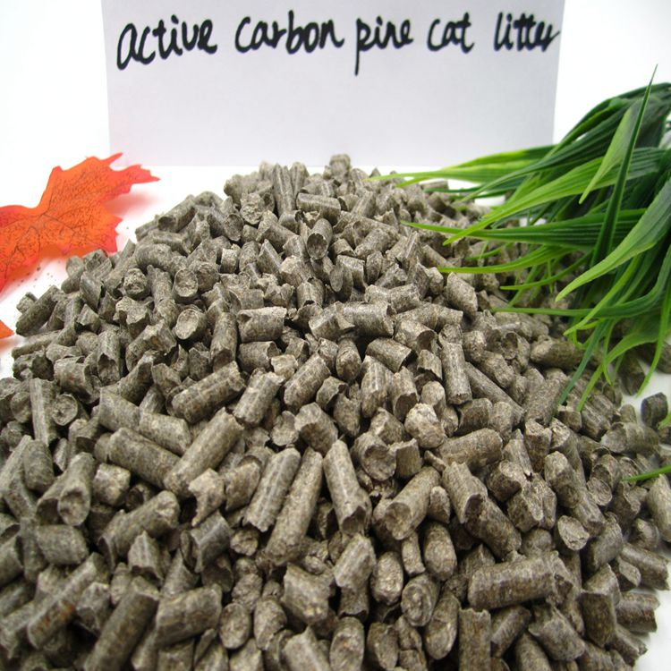 All natural activated carbon pine wood pellet cat litter