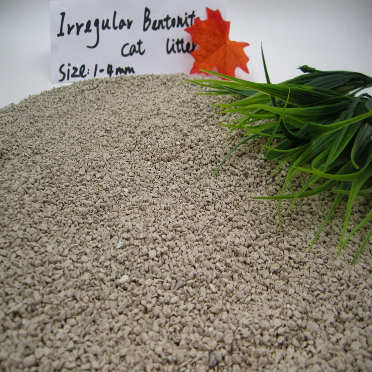 Hot sale cheap bentonite eco-friendly bulk cat litter 1.5-2mm