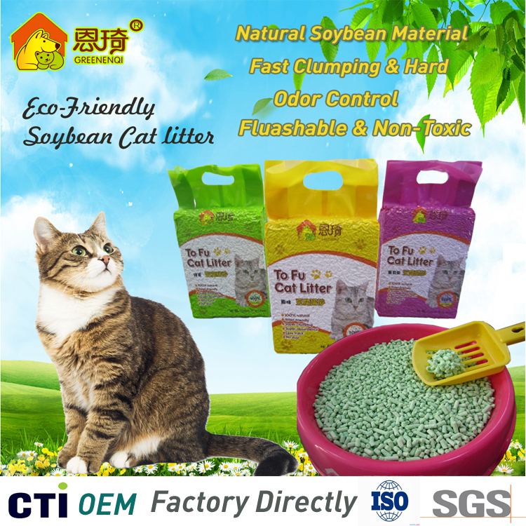 ISO Certificated Best Clumping Cat litter Fluashable