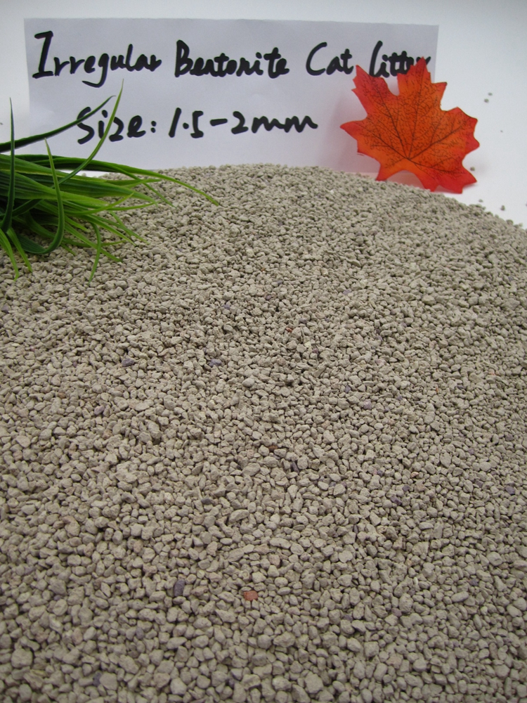 China Supplier Competitive Price Irregula Granule Cat Litter 1.5-2mm