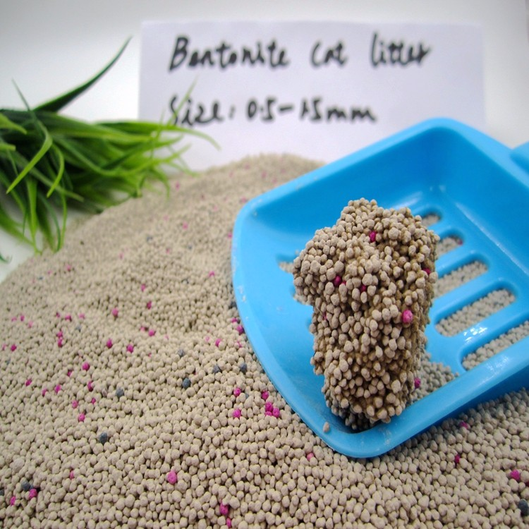 Best Clumping Cat Litter without Dust Ball Shape Size 0.5-1.5mm