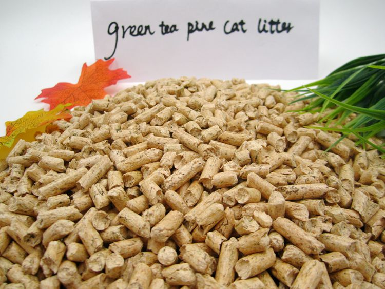 Eco Friendly Wood Pellet Cat Litter Pine with Green Tea for Cats