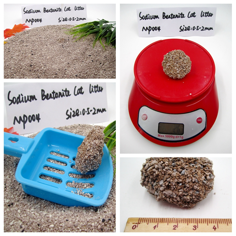 Dust -free Clumping Sodium Bentonite Cat Litter GP004