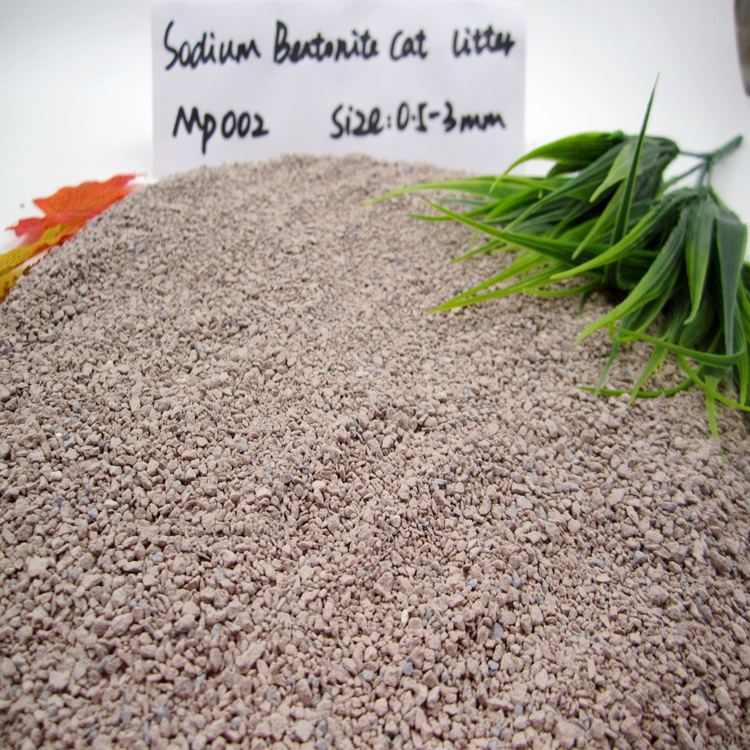 Ultra Clumping Sodium Bentonite Clay Cat Litter GP002
