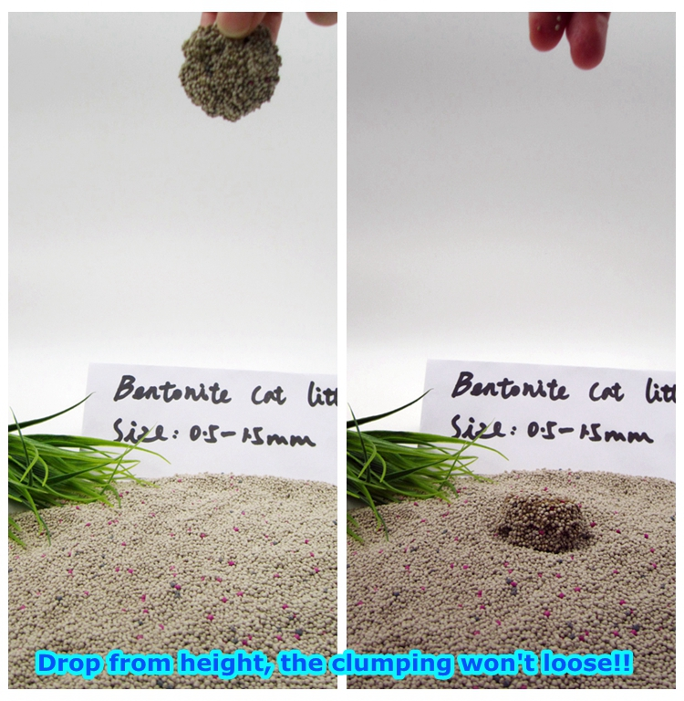 No Dust Bentonite Ball Shape Cat Litter 0.5-1.5mm