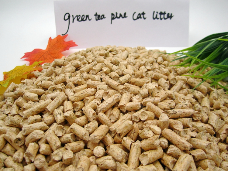 Green tea fragrance natural pine cat litter