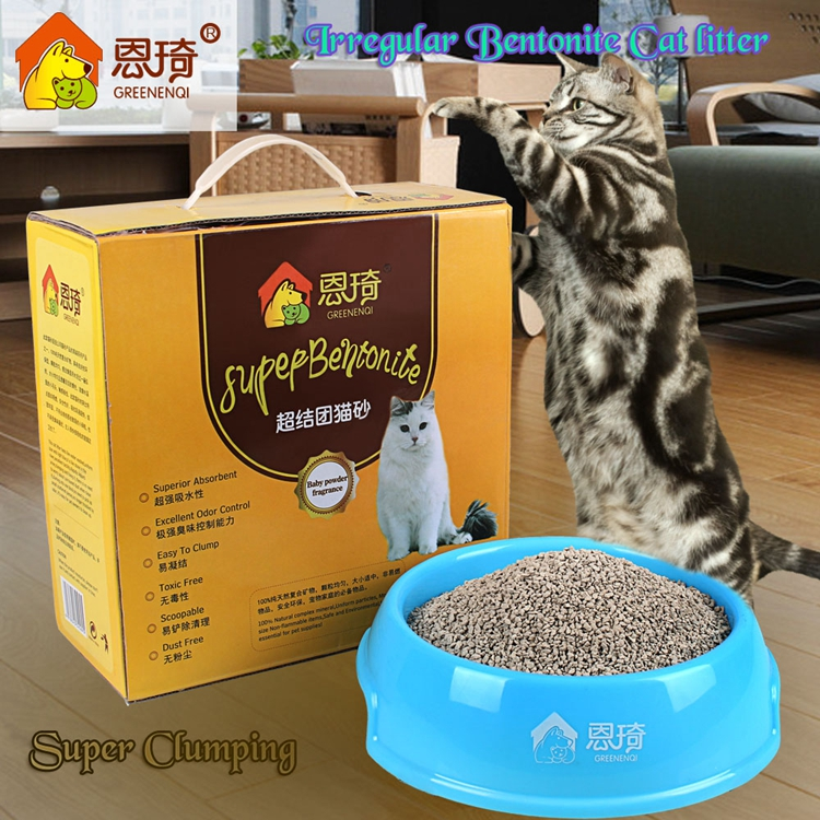 Dustless Clumping Cat Litter Bentonite Clay Crushable 1-4mm