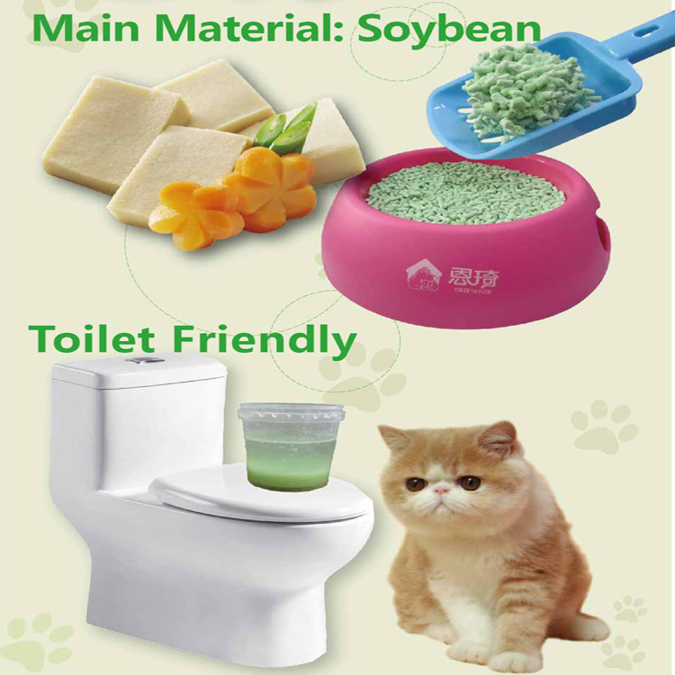 100% Natural Tofu Cat Litter UK Market Favorite