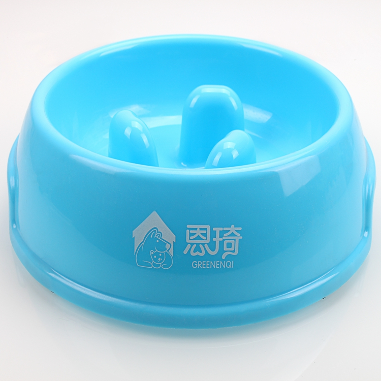 Wholesale Dog Slow Feeder Blue Personalised Puppy Food Bowls