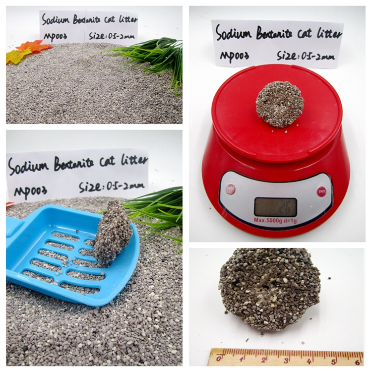 Sodium Bentonite Clay Kitty Litter Manufacturer GP003