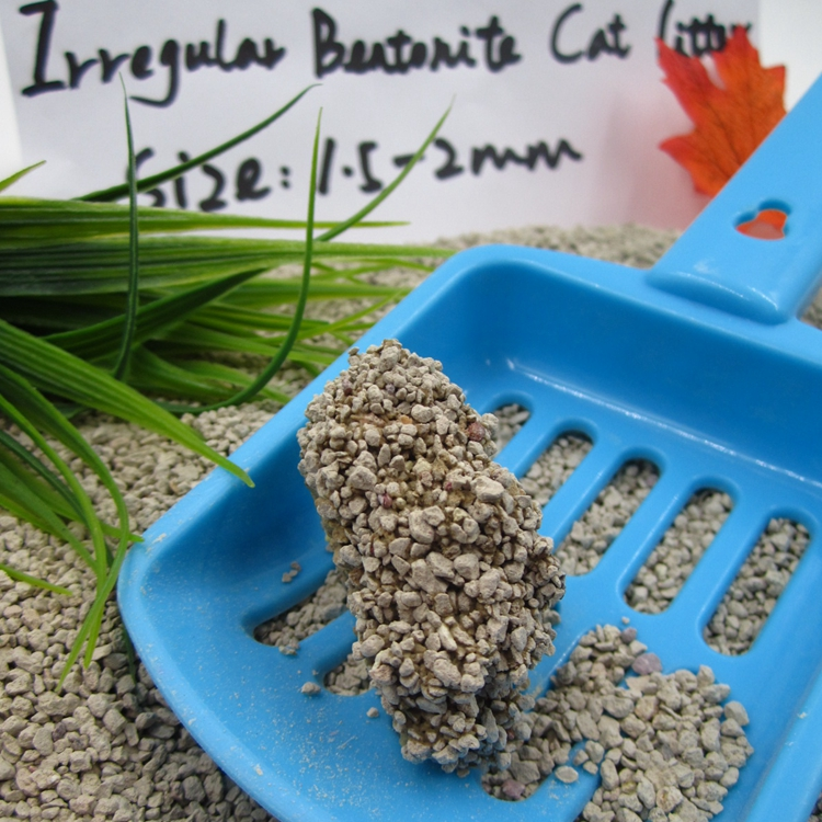 Clean Paws Popular Eco-friendly Irregulare Shape Bentonite Cat litter 1-4 mm