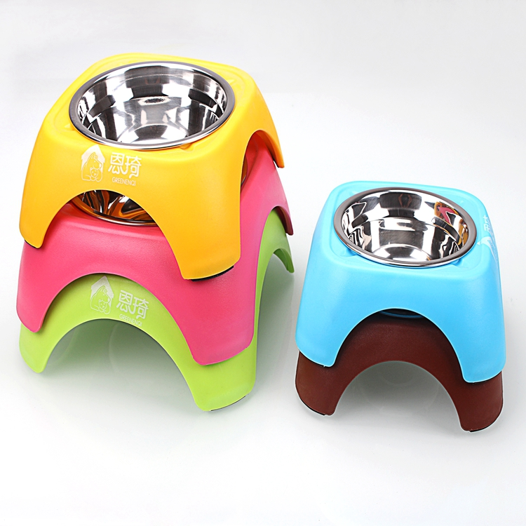 High Quality Dog Bowls with Stand Steel Bowl Non-Slip