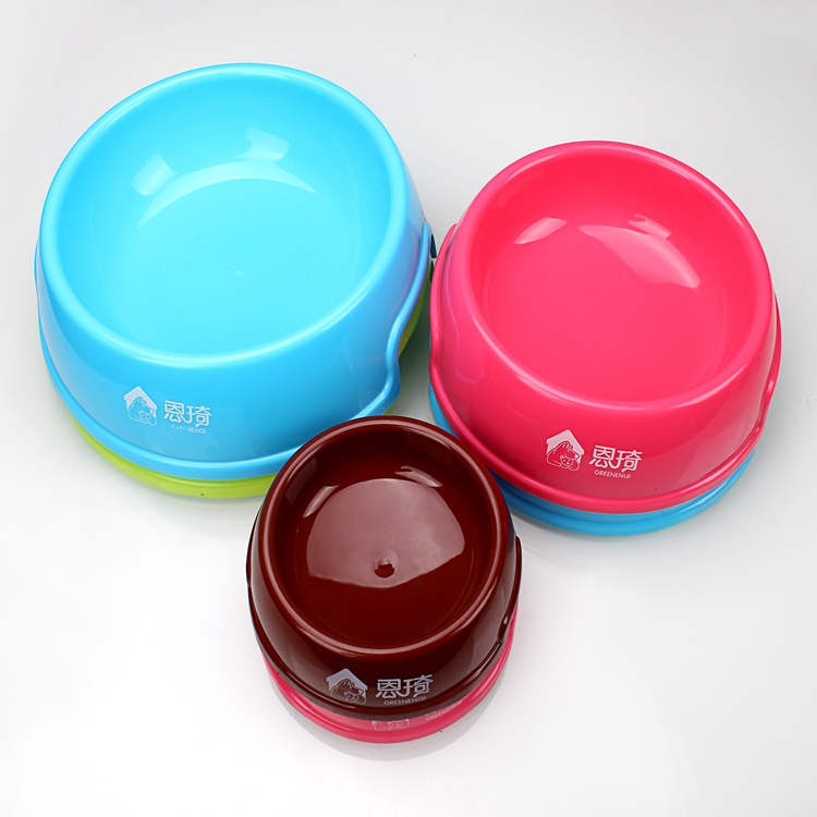 Round Shape Plastic Dog Feeding Bowl