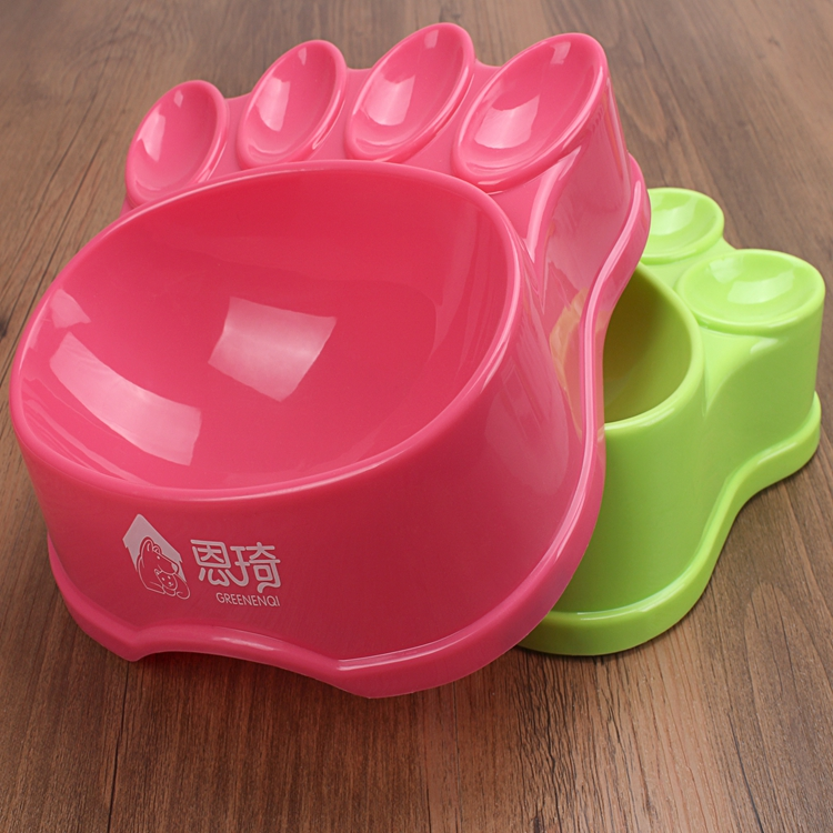 Cute Dog Travel Bowl Personalized Paw Pet Feeder