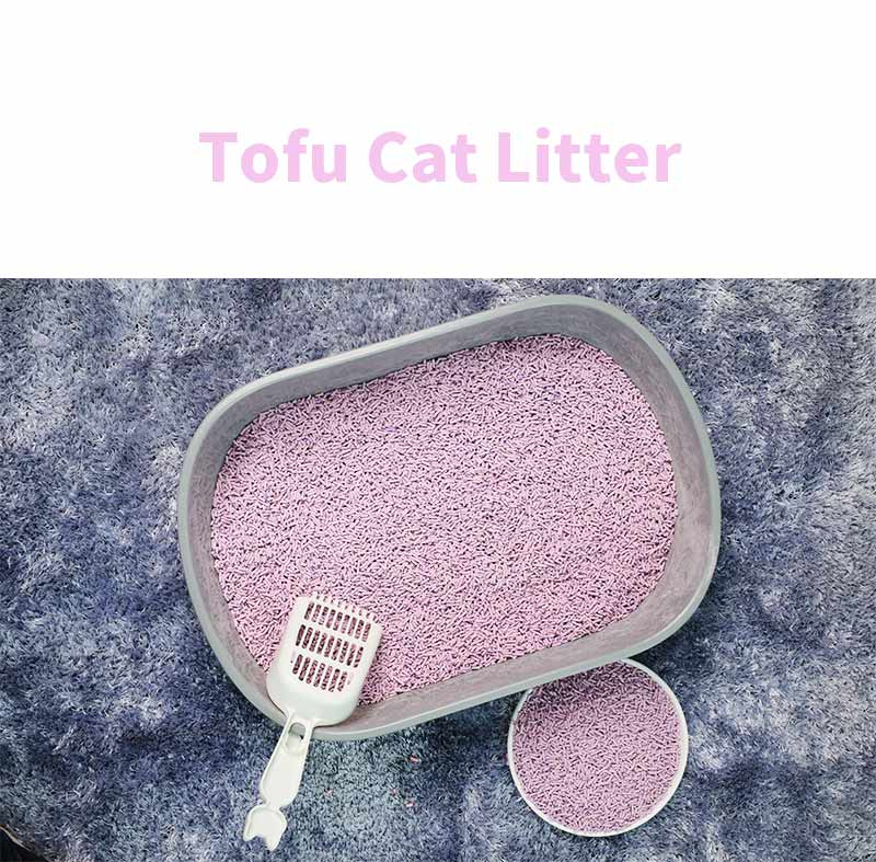 Natural plant 2.0mm strip shape clumping flushable tofu cat litter