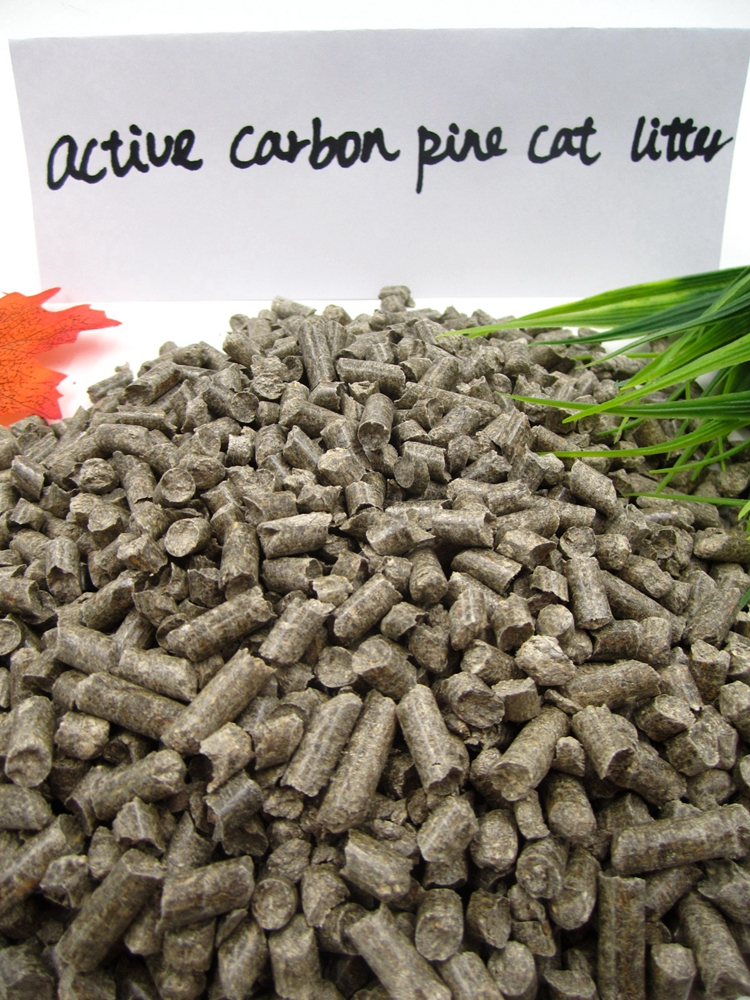 Greater Absorption Capacity Wooden Pellet Pine Wood Activated Carbon Cat Litter