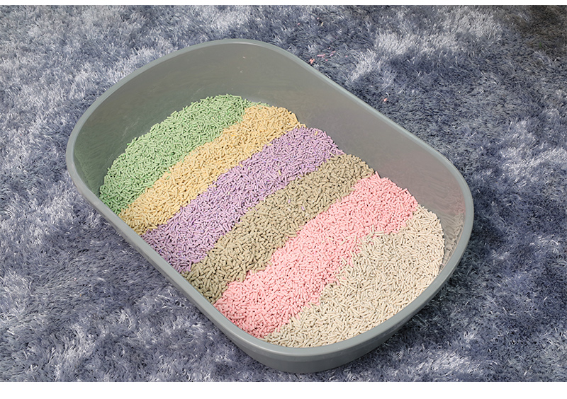 Crush Shape and soluble Biodegradable plant Tofu  Cat Litter cat toilet sand
