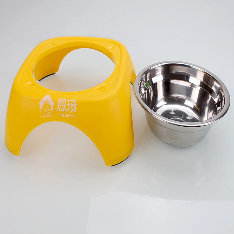Metal Feeder Stand Food Grade Stainless Steel Water Bowl for Dog
