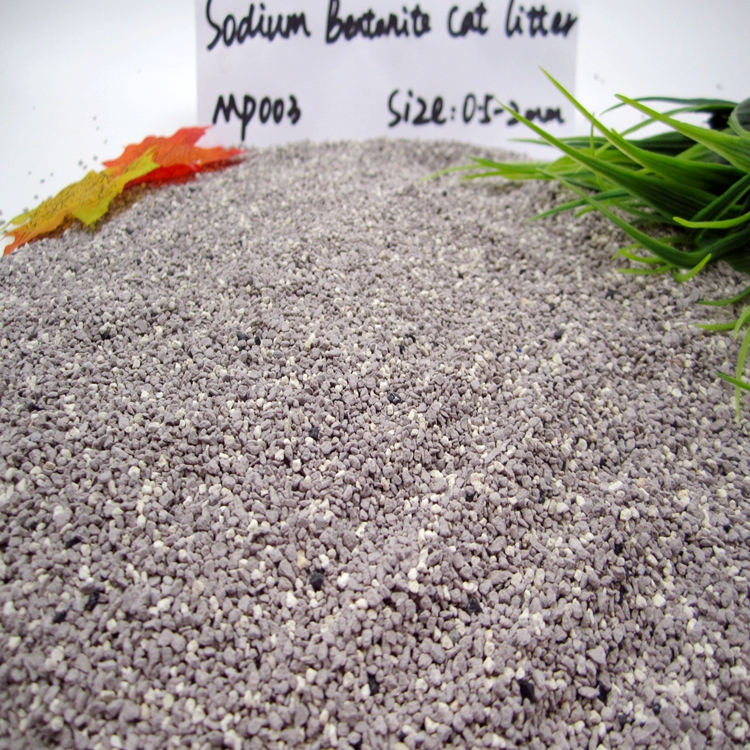 Premium Sodium Bentonite Clay Cat Litter--Super clumping GP003