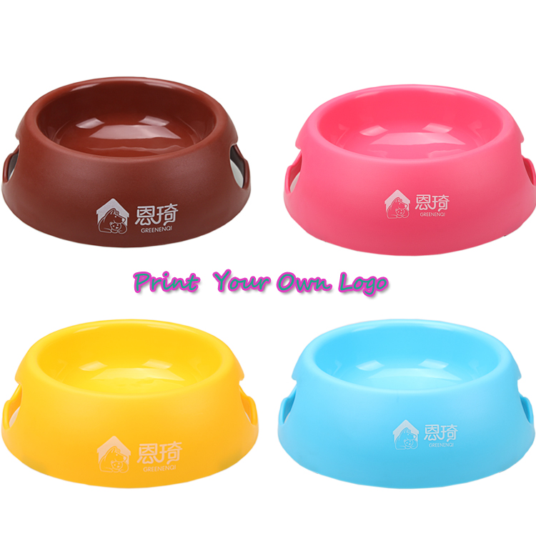 Customized Plastic Dog Bowls Pet Feeding