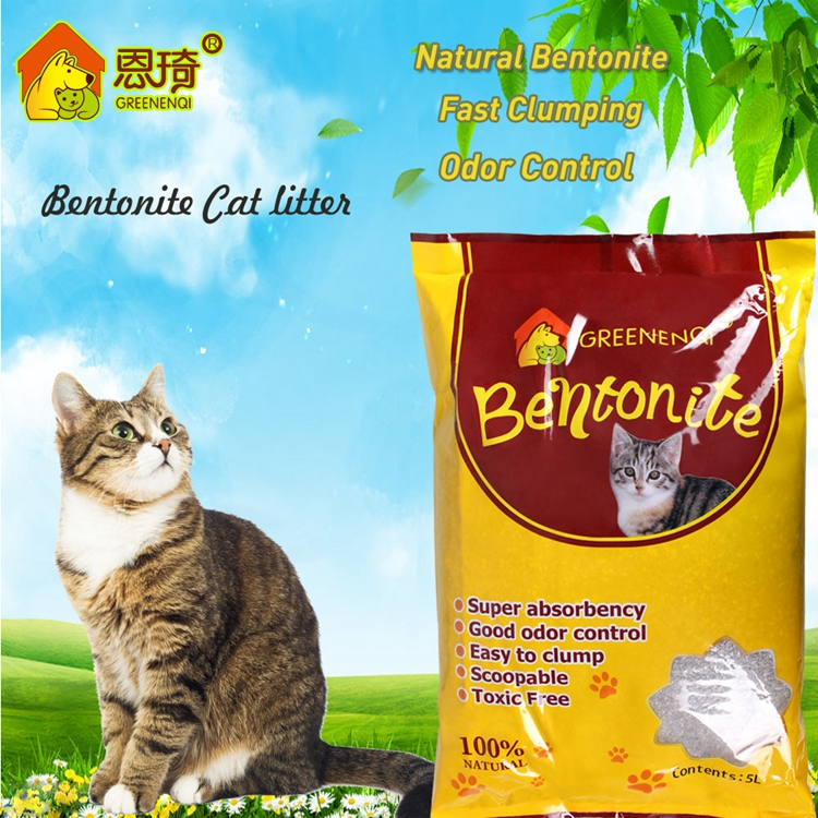 Dust free Bentonite cat litter with super clumping manufacturer in China
