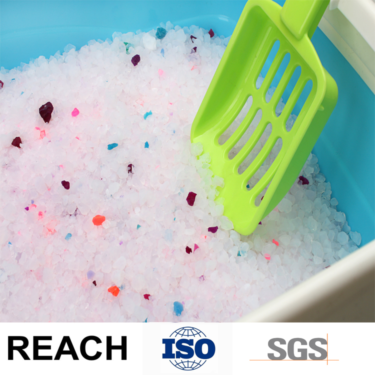 Low Dust Silicone Cat Litter Fashion in European Silica Sand
