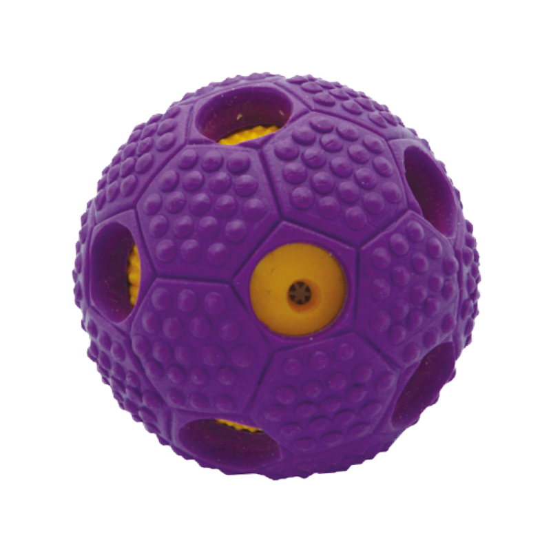 Wholesale dog toy ball touth cleaning TPR treating ball in China