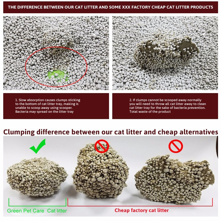 factory direct supply OEM Clumping bentonite cat litter1-4mm
