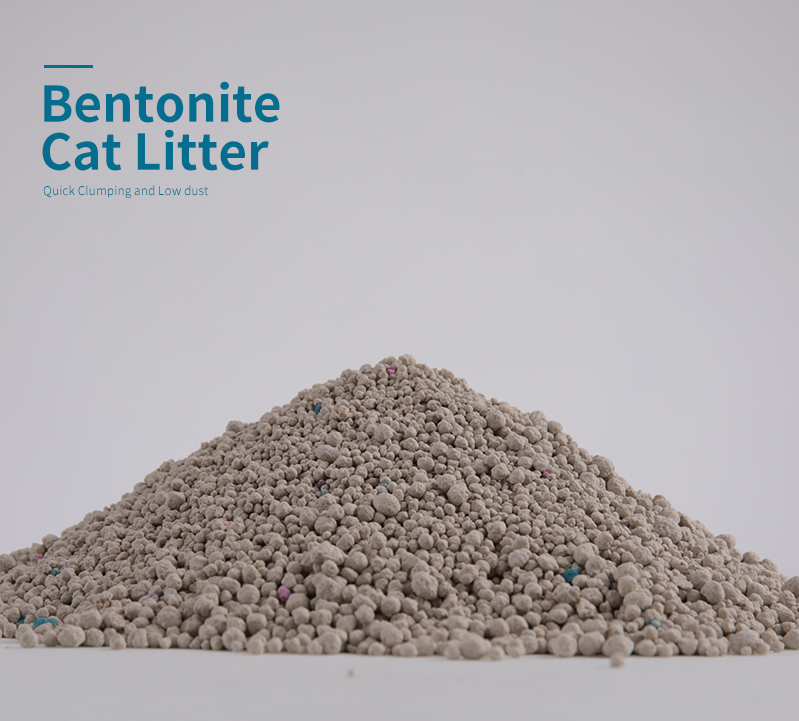 Private label Bentonite cat litter dust-free environmental protection products  manufacture