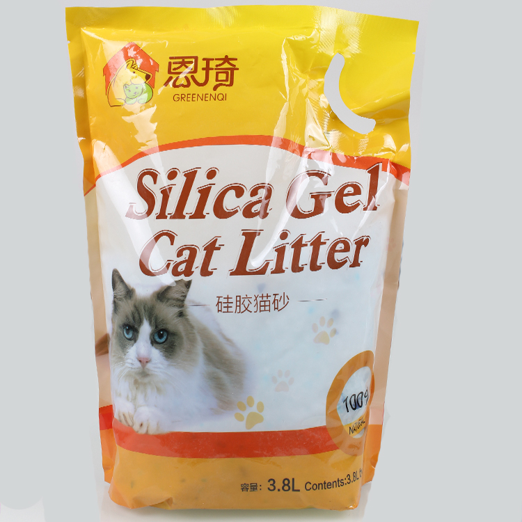 Crystal Silica cat litter with odor control and high absorption