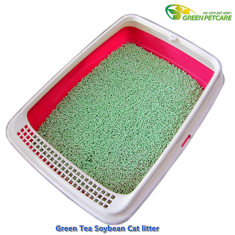 Flushable Vegetable Cat litter Manufacturer Green Tea Flavor