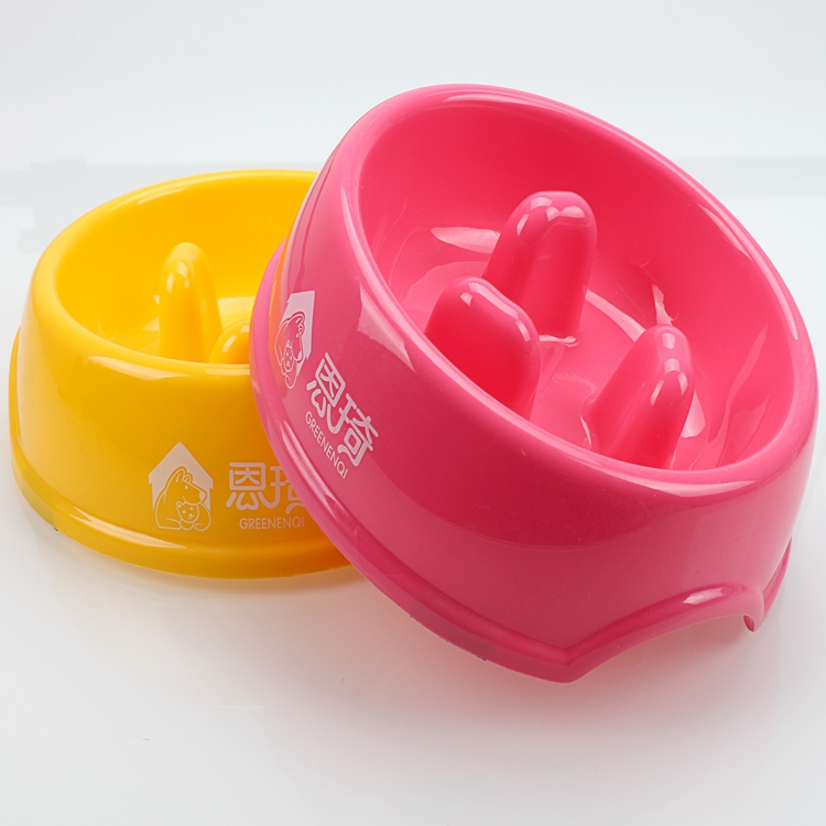 Hot selling New product adorable prevent choking plastic dog bowl